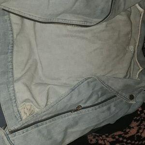 1969 gab denim biker styled jacket